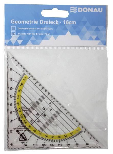 DONAU Geodreieck 16cm 4210002-00 mit Griff