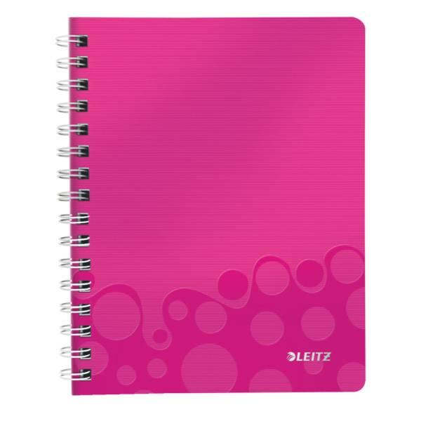 LEITZ Collegeblock A5 Wow pink metal 4639-00-23 80Bl lin.