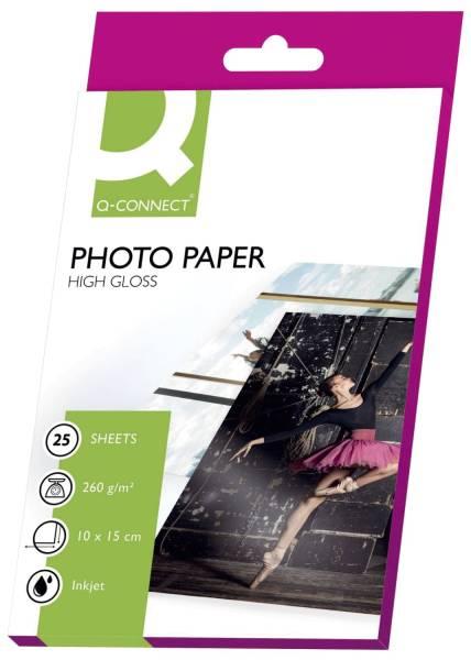Inkjet Photopapiere 10x15 cm, hochglänzend, 260 g qm, 25 Blatt