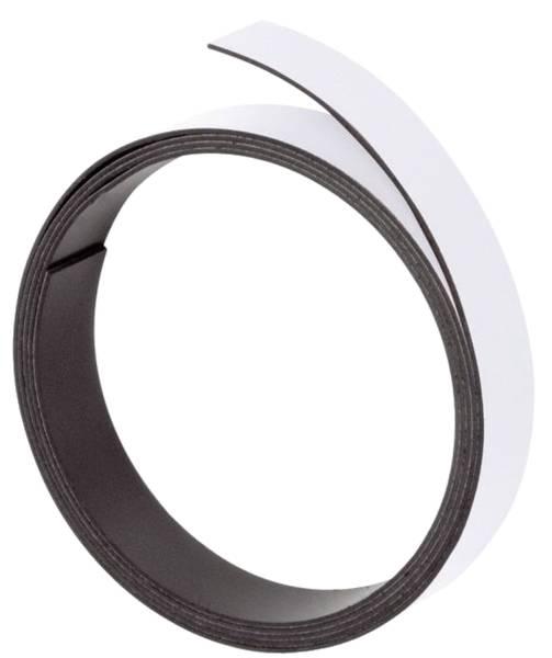Magnetband 100 cm x 10 mm, weiß