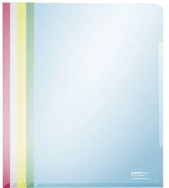 4153 Sichthülle Super Premium, A4, PVC, dokumentenecht, sortiert