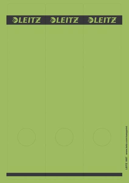 1687 PC beschriftbare Rückenschilder Papier, lang breit, 75 Stück, grün