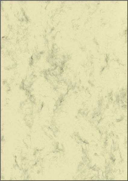 Marmor Papier, beige, A4, 90 g qm, 100 Blatt