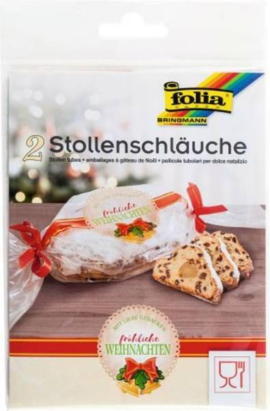 FOLIA Stollenschlauch 25x64cm 295 Pg2St Weihnachten