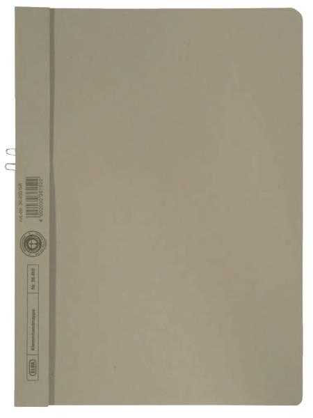 Klemmmappe, Manilakarton (RC), 250 g qm, für 10 Blatt A4, grau