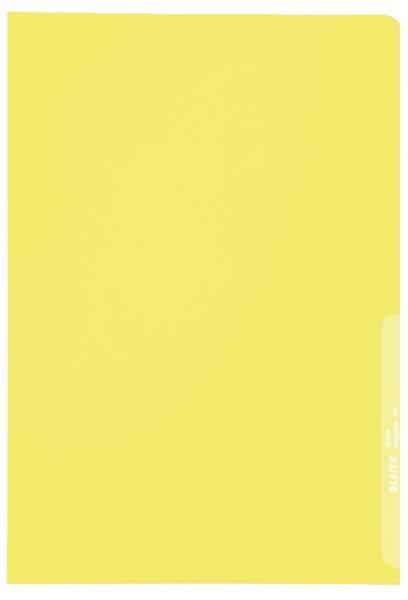 4000 Standard Sichthülle A4 PP Folie, genarbt, gelb, 0,13 mm