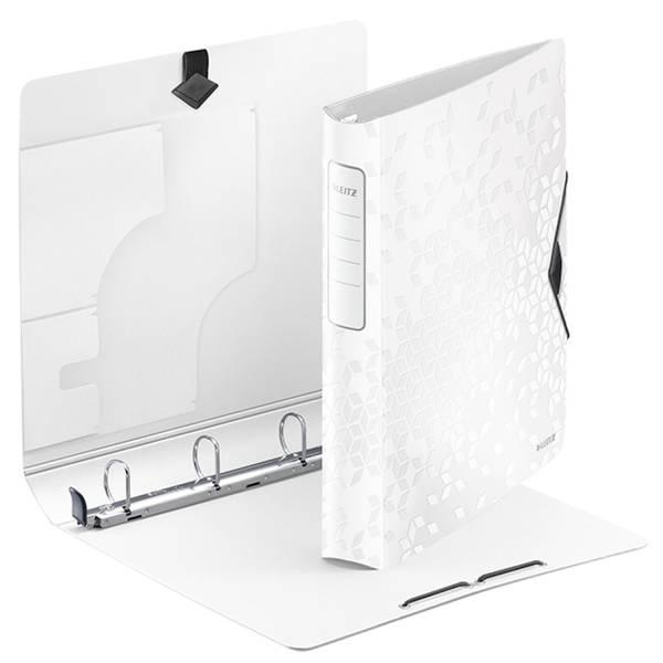 LEITZ Ringbuch A4 4R D30mm weiß met. 4240-00-01 Wow Active