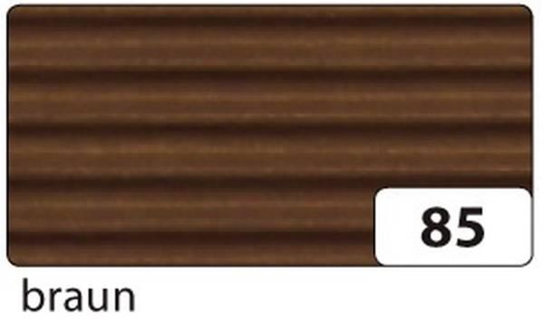 Bastelwellpappe 50 x 70 cm, braun
