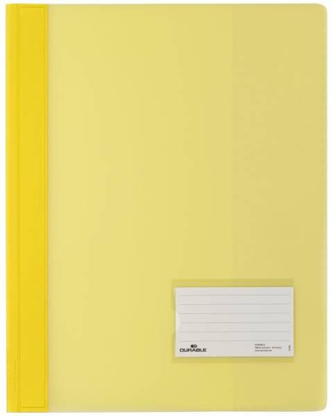 Schnellhefter DURALUX A4 überbreit, transluzente Folie, gelb®