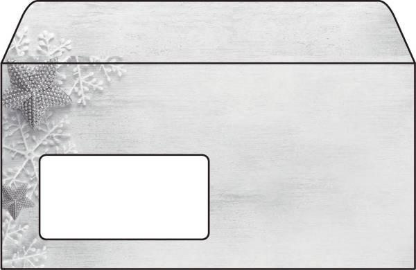 """Weihnachts Umschlag """"Frozen Stars"""" DIN lang (110x220 mm), 50 Umschläge®"""