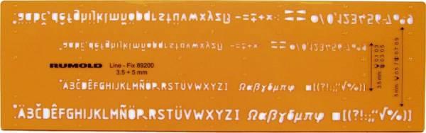 Schriftschablone Schrifthöhe 0,35 mm und 0,5 mm