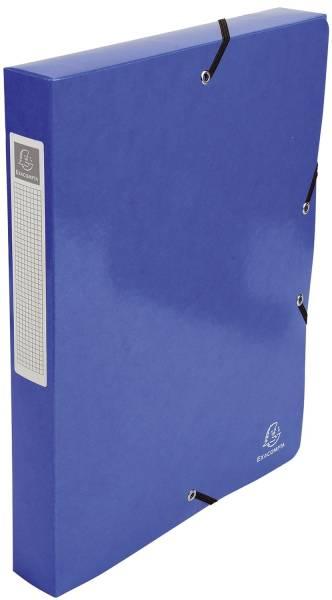 EXACOMPTA Archivbox A4 Iderama d.blau 59928E 40mm