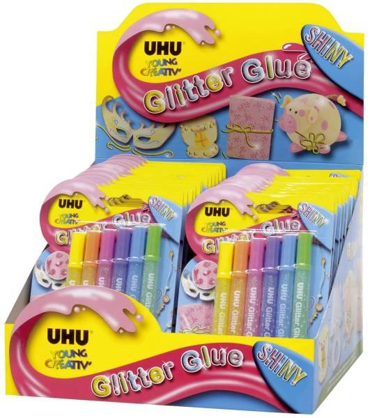 UHU Glitterglue 10ml 6ST Shiny 39110