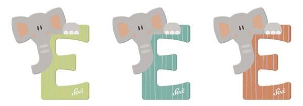 """Tierbuchstaben """"E Elephant"""" 10 cm"""