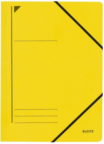 3980 Eckspanner A4, 250 Blatt, Pendarec Karton (RC), gelb