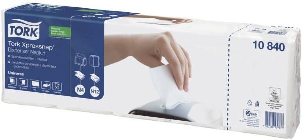 Spenderservietten weiß, 33 x 21,3 cm, 1 125 Stück