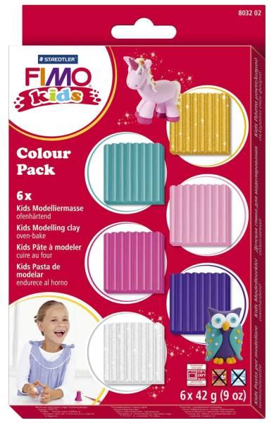 Modelliermasse Kids Materialpackung girlie, Kunststoff, 6 x 42 g®