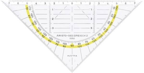 ARISTO Geodreieck 16cm ohne Griff 70-AR1552