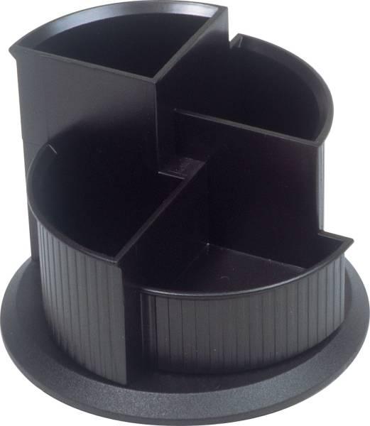 HELIT Schreibköcher schwarz H6390595 drehbarer Fuß