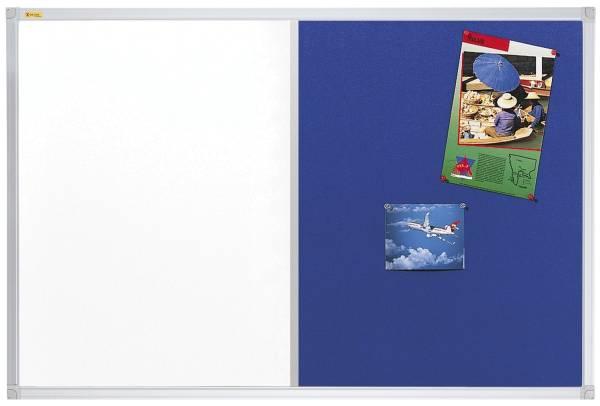 Kombitafel X tra!Line 120 x 90 cm, Schreib und Filztafel, blau®