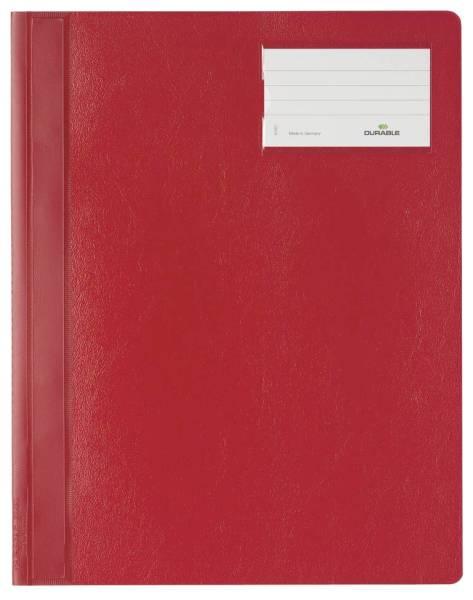 Schnellhefter, Hartfolie, DIN A4 überbreit, rot