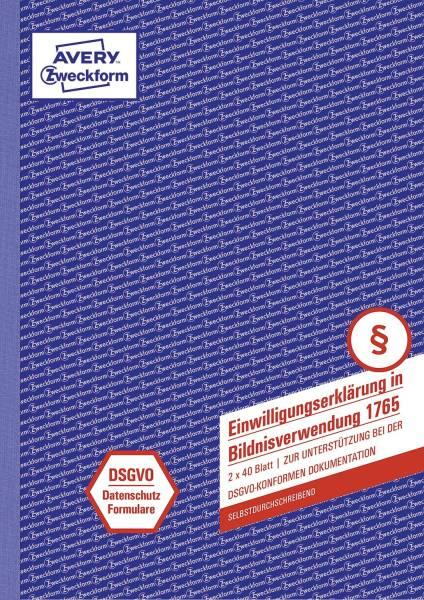 AVERY ZWECKFORM Formular Einwilligung A4 SD 2x40BL 1765