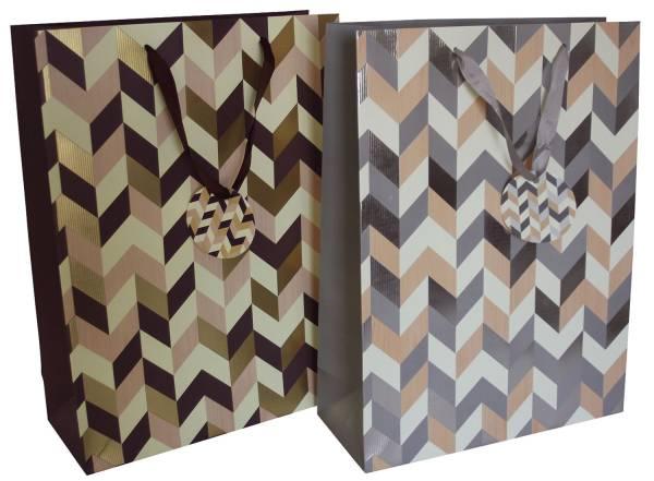 Geschenktragetasche Zacken sort. 1290 40x30x12cm