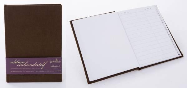 GOLDBUCH Adressbuch Edition 111 dunkelbraun 66755
