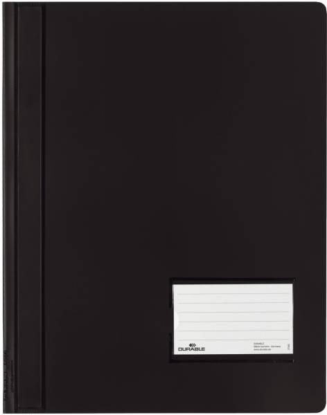 Schnellhefter DURALUX A4 überbreit, transluzente Folie, schwarz®