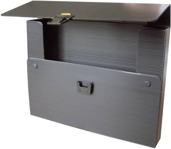 Stabiler Zeichenkoffer, schwarz, A3