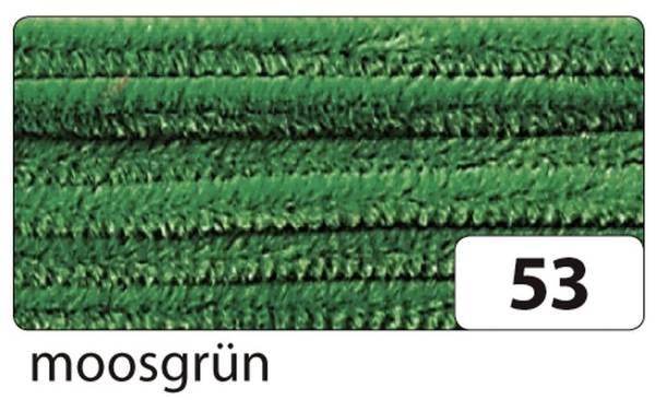 Chenilledraht 8 mm, 10 Stück, moosgrün