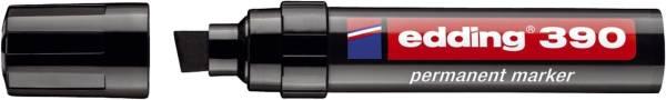 EDDING Permanentmarker 390 4-12mm schwarz 390-001 Keilspitze nachfüllbar