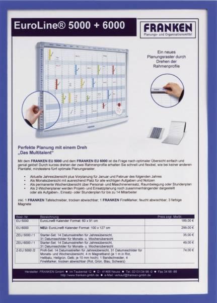 Dokumentenhülle Frame It X tra! Line, A4, Hartfolie, matt, blau