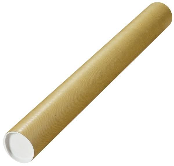 Versandrohre mit vormontierten Verschlusskappen Ø 80 x 750 mm, braun, 10 Stück