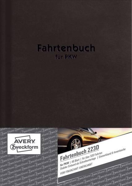 AVERY ZWECKFORM Fahrtenbuch A5 Pkw 48Bl 223D