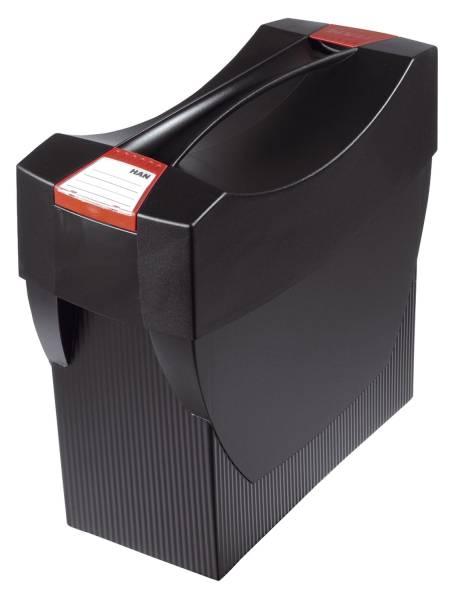 Hängemappenbox SWING PLUS mit Deckel, für 20 Hängemappen, schwarz