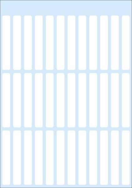3724 Vielzwecketiketten weiß 8x36 mm Papier matt 168 St