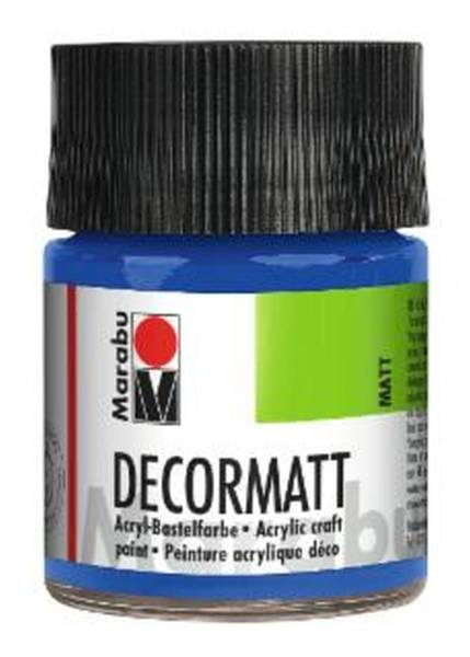 Decormatt Acryl, Mittelblau 052, 50 ml