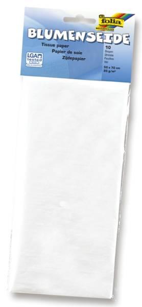 Blumenseide 50 x 70 cm, 10 Bogen, weiß