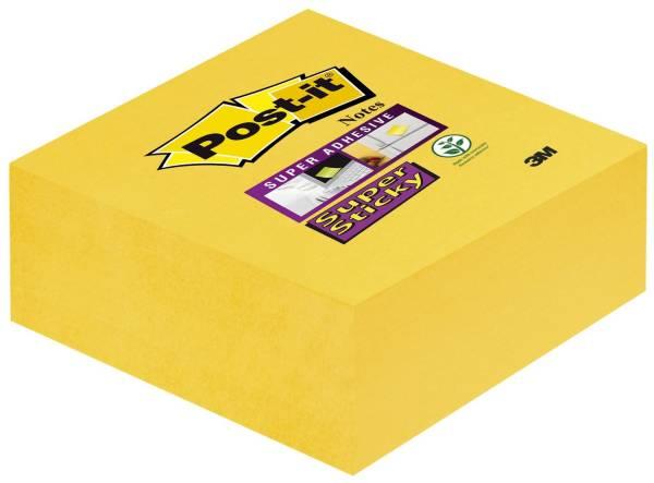 POST-IT Haftnotizblock Würfel 76x76mm gelb 2014-S 270Bl SupSticky