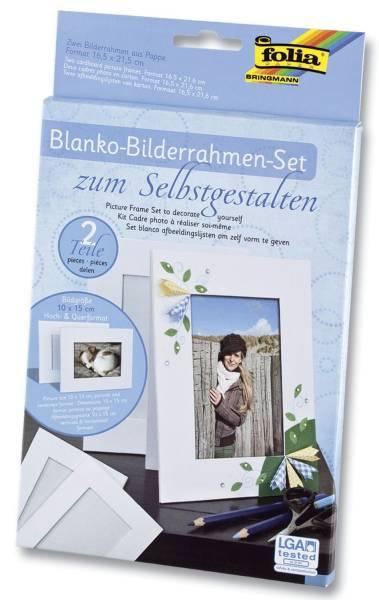 Fotorahmen Pappe, 166 x 216 mm, weiß, blanko zum Selbstgestalten