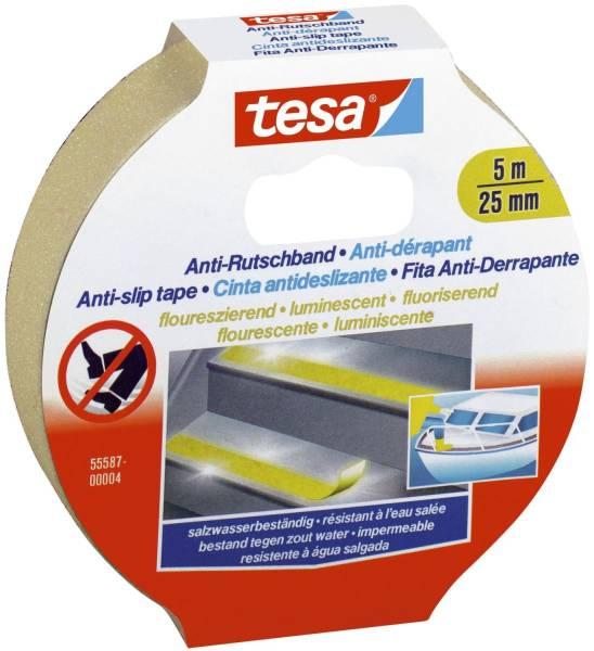 TESA Antirutsch-Klebeband 5mx25mm 55580-00000-11 fluoreszierend