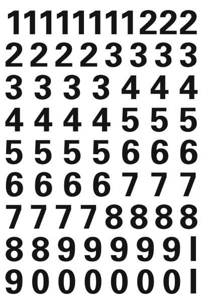 HERMA Zahlenetikett 0-9 Folie schwarz 71 Stück 4159 10 mm wetterfest