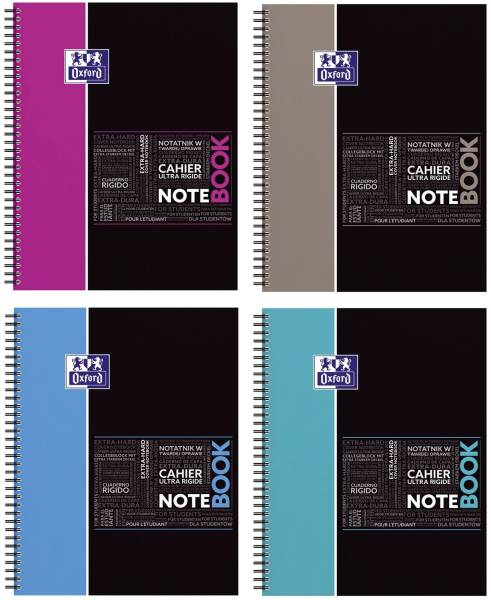 Notebook A4+ 80Bl kar sort
