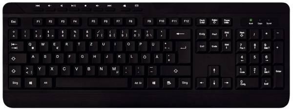 MEDIARANGE Home + Office Tastatur Basic schwarz MROS102