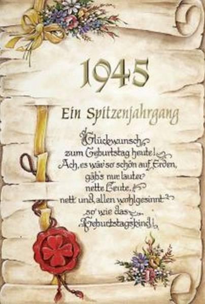 Geburtstagskarte Spitzenjahrgang 75 inkl Umschlag