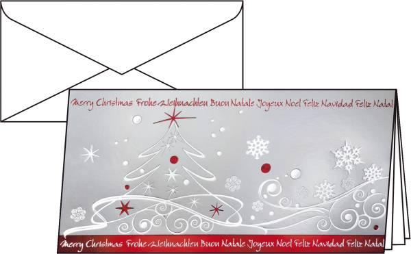 """Weihnachts Karten """"Winter Breeze"""" DIN lang (2 3 A4), 10 Karten"""