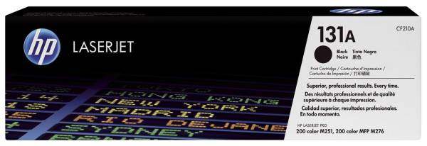 Druckkassetten schwarz, 1 600 Seiten, CF210A®