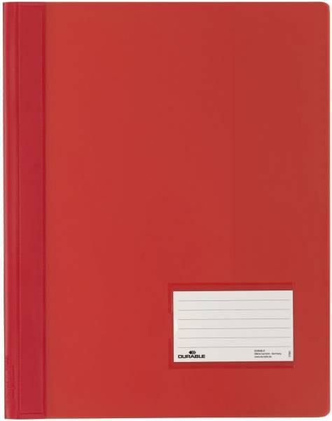 Schnellhefter DURALUX A4 überbreit, transluzente Folie, rot®