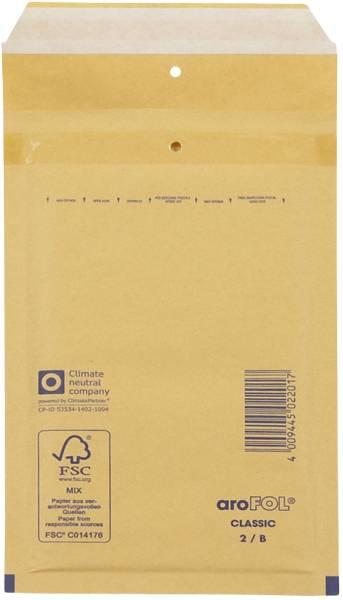 Luftpolstertaschen Nr 2, 120x215 mm, goldgelb braun, 200 Stück